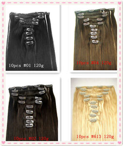 10pcs-Popular-Colored-Clip-On-In-Hair-Extension-22-120g
