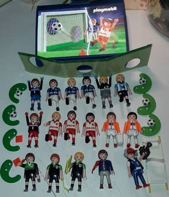 Playmobil Lot, Referees, Cameraman, Commentator, Football Players,others, w/ box