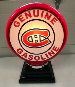 MONTREAL CANADIANS (HABS) HOCKEY - GAS PUMP GLOBE