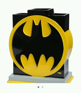 DC Comics Batman Bathroom Toothbrush Holder Decor Logo