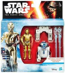 R2-D2 and C-3PO Action Figures with firing missiles - NEW