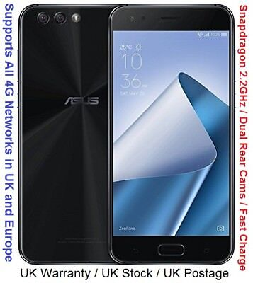 """Asus ZenFone 4 64GB ZE554KL 5.5"""" Snapdragon 630 Octa Core Dual Rear Cameras"""