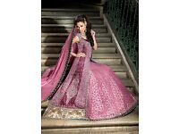 Beautiful Bridal wedding Lengha, Designer RDC London- Worn once-Like new condition RRP £3100