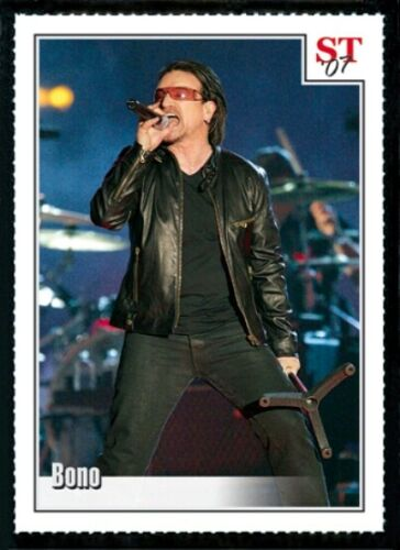 50) BONO U2 - Pop / Rock Singer 2007 Spotlight Tribute Trading Card LOT