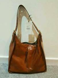 Hobo bags branded Marley style brown leather bag