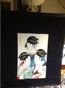 ONYX CHESS, REAL Paintings, Japanese silk wall decor Kitchener / Waterloo Kitchener Area image 6