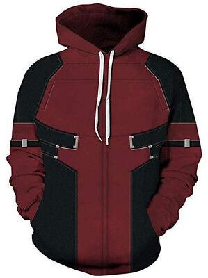 Deadpool Hoodie M L (Pullover, Hoody, Kapuzenpullover, Kostüm, Costume, Cosplay)