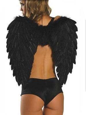 Costume Angel Alas Negras Costumes Carnival Halloween Size One (81250-2) - Carnival Halloween Costumes