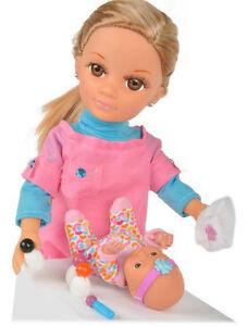 Puppe mit Baby Tragetasche Hund Zubehör Lange Haare Blond Mode Puppe Mama 42 cm