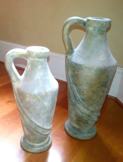 French Stone Urns -2 Vases Ornaments, Sculptures,Statues immaculate condition