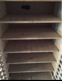 6 shelf shoe cupboard