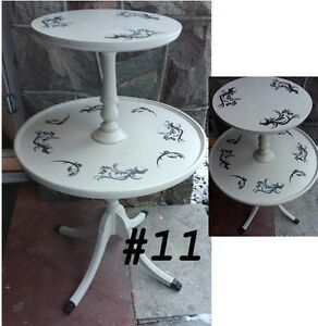 Assortment of side tables, bedside dresser, telephone table