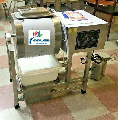 New Vacuum Pump Meat Seafood Tumbler Marinator Mixer Machine Ss Commercial Use