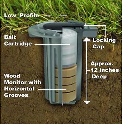 5 Advance Termite Control Bait & Monitoring Stations   Advance Termite Bait Station