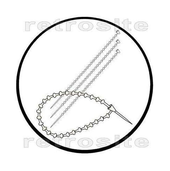 "1000 Clear Manual ADJUSTABLE Plastic Loop Fasteners 5"" NO TAGGING GUN NEEDED"