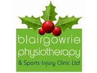 PHYSIOTHERAPIST REQUIRED FOR PERTH & BLAIRGOWRIE CLINICS