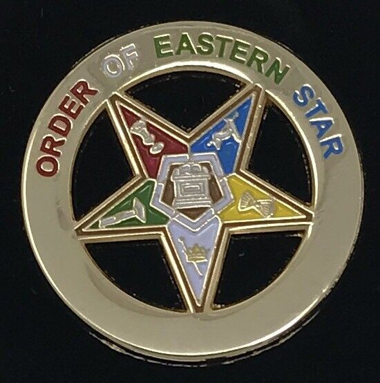 New Order of Eastern Star Lapel Pin