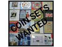 Uk coin sets wanted good prices waiting call now 07986630149