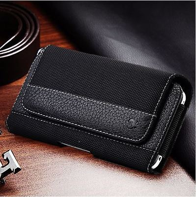 Heavy Duty Horizontal Cell Phone Pouch Case Holder Holster Carrying Belt Clip Cell Phone Holder Case