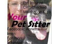 Registered dog walker/cat/small animal sitter
