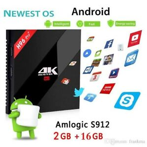 H9/6 PRO PLUS 2/16GB ANDROID TV BOX DUAL WIFI BT S912 KODI APPS LOADED Hallam Casey Area Preview
