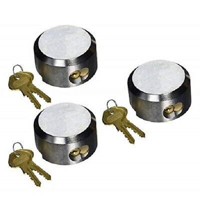Trimax Hockey Puck Shackle Trailer Door Lock 3-pack Shed Mobile Container Lock-