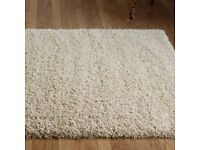 TWILIGHT SQUARE 200cm deep pile beige rug