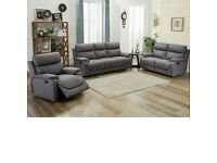 💠💠New Clearance Sale On Brand New CHICAGO RECLINER GREY SOFA SET In Different Colors💠💠