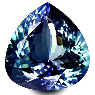 HKD CERTIFIED TANZANITE : 5,59 Ct Blau Violett Tansanit Augenrein