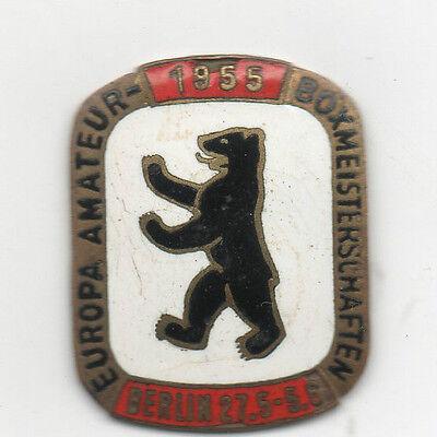 Orig.Teilnehmer Pin    EM im Boxen BERLIN 1955  !!  TOP RARITÄT