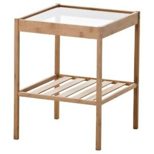 Ikea glass bed side table - pick up only