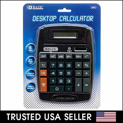 Large 8-Digit Jumbo Calculator Big Button Desktop Math Display Solar Battery