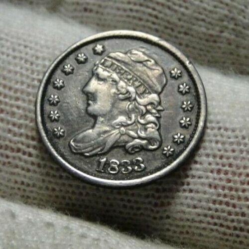 1833 Capped Bust Half Dime 5C Cents - Nice Coin, Free Shipping (9432)