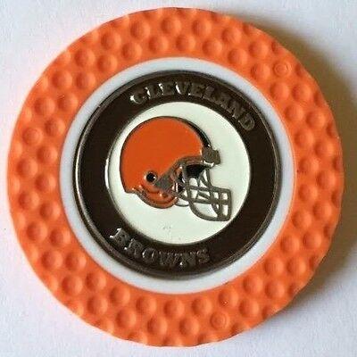 NFL Cleveland Browns Magnetic Poker Chip removable Golf Ball Marker