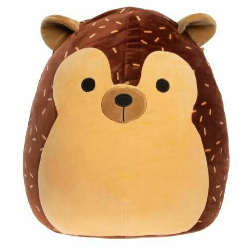 """Squishmallow, Hans The Brown Hedgehog Squishmallow Plush Doll  KellyToy 8"""" New"""