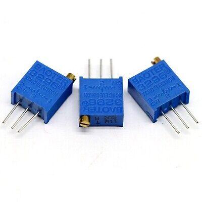 20pcs 500k Ohm 504 3296w Precision Trimmer Multiturn Preset Top Potentiometer
