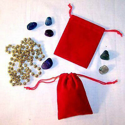 24 Large Red Velvet Drawstring Storage Jewelry Bags Soft Bag Coins Rocks New