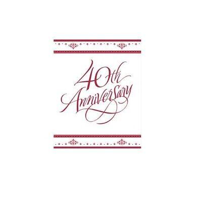 Stafford Ruby 40th Anniversary Invitations 25/pk -
