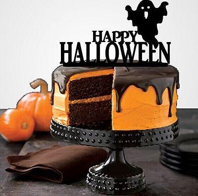 Halloween Cake Topper, Halloween Party Decorations, Party Supplies, by YBM - Halloween Party Cake