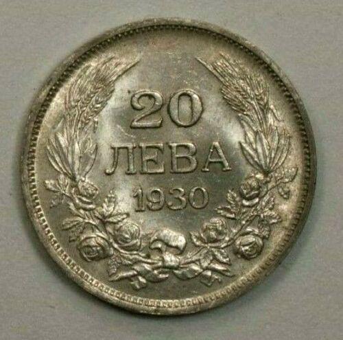 Bulgaria 1930 BP 20 Leva  UNC Silver