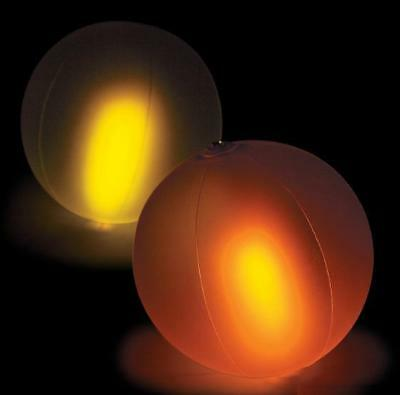 Pool Glow Balls (Set of 12 Luau Pool Party Inflatable Color Changing Glow In The Dark Beach)