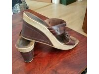 NEXT leather wedges sz 9