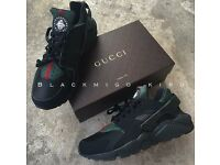 Black Gucci Huaraches brand new bought to sell, black huaraches brand new bought to sell.