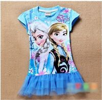 New! FROZEN 6T, 2T-shirt for girls with tulle bottom purple blue