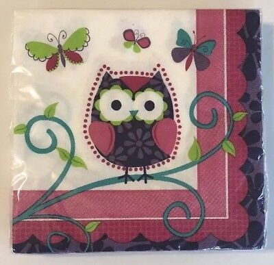 Purple 9 Square Paper - Owl Pal Cocktail Napkins 9 4/5