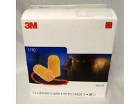 3M 1110 Corded Foam Ear Plugs Box Of 100 Pairs £20 Collect Safety Surplus Halesowen B63 3SW
