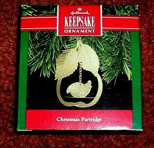 "1990 HALLMARK ORNAMENT ""CHRISTMAS PARTRIDGE""  QX5246"