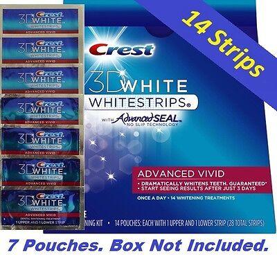 Crest 3D White Advanced Vivid Whitestrips Advanced Seal. Teeth Dental 14 Strips  on Rummage