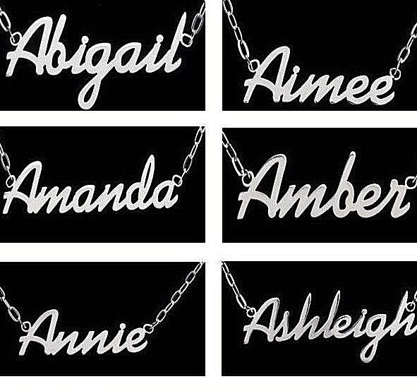 Jewellery - Steel Personalised Name Necklace Up to 11 Letters Birthday / Xmas Gift Jewellery
