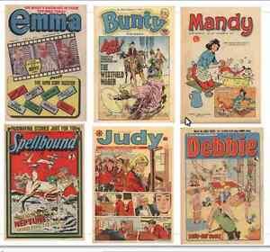 Bunty, Mandy, Judy, Emma, Debbie, Spellbound 182 issues British Comics on DVD